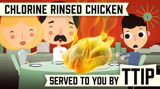 Chlorine-rinsed chicken