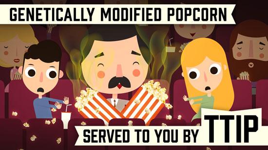 Genetically modified popcorn