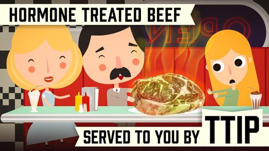 Hormone-treated beef
