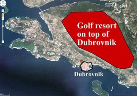 Golf resort on top of Dubrovnik comparison