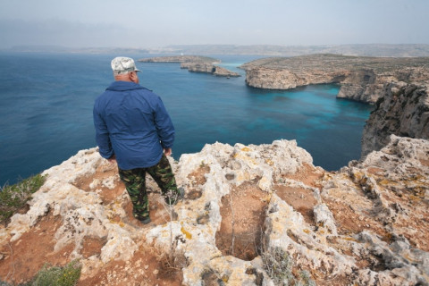 Island of Comino Malta, protected nature under increasing pressure from tourism