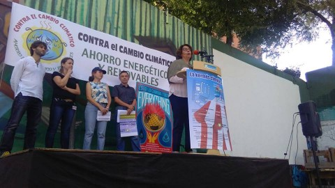 Friends of the Earth Spain presenting climate alternatives