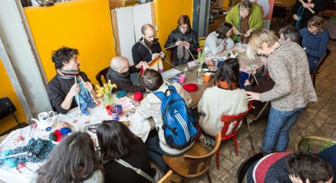 A knitting cafe in Groningen (c) Annet Eveleens