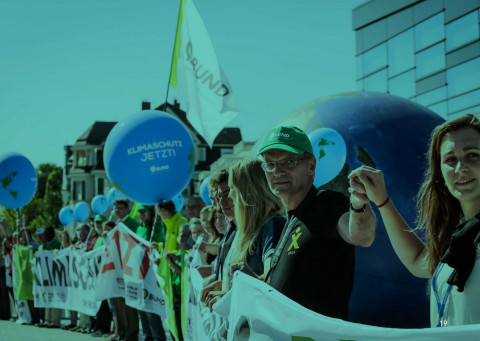 International climate change protests in Bonn, Germany