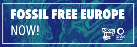 Fossil Free Europe banner
