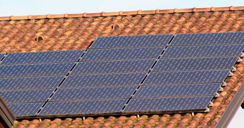 Solar panels on a Spanish teracotta roof