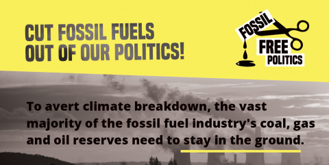 Cut fossil fuels out of our politics
