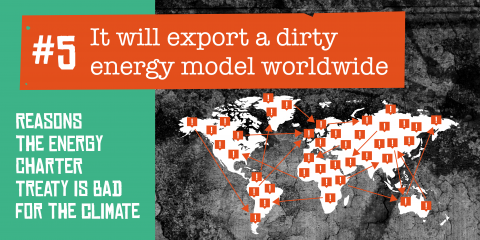 The ECT exports a dirty energy model