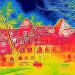 Thermal imaging shows energy waste in Wekerle