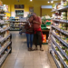 Gerald and Melis in an organic food shop in Berlin