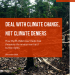 'Deal with climate change, not climate deniers' report cover page