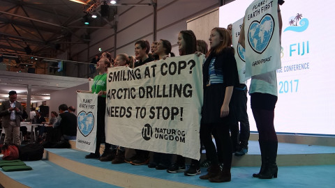 Natur Og Ungdom highlight Norway's arctic drilling at COP23