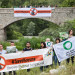 Protests and banner drop at pan-European motorway project, Kresna Gorge Bulgaria, as time runs out for key wildlife site