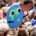 Climate strike protest in Berlin - planet shouts 'help'